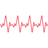 Heartbeat line. Seamless background. Vector