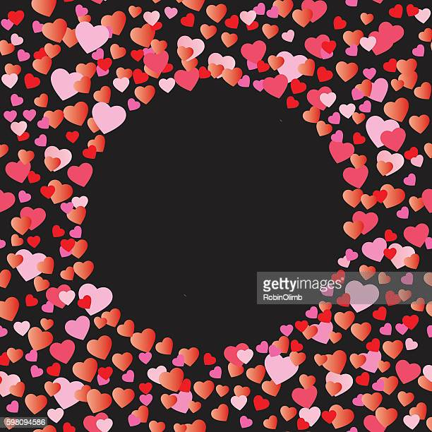 Hearts Forming Circle Background