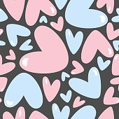 Hearts seamless pattern for Valentine's day.