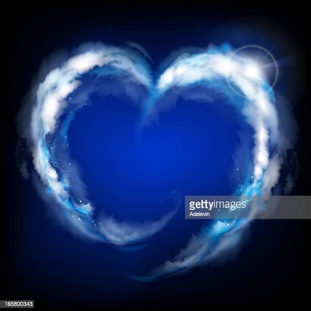 Heaven heart background