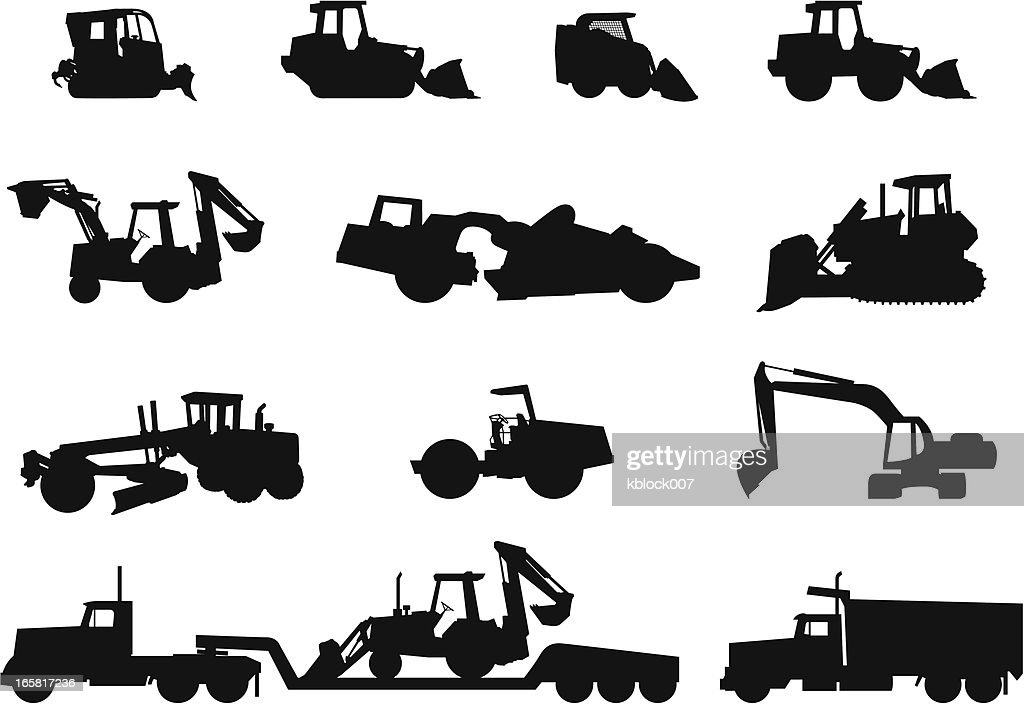 Heavy Equipment Silhouettes Vector Art | Getty Images