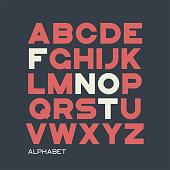 Heavy sans serif typeface design. Vector alphabet, letters, font typography