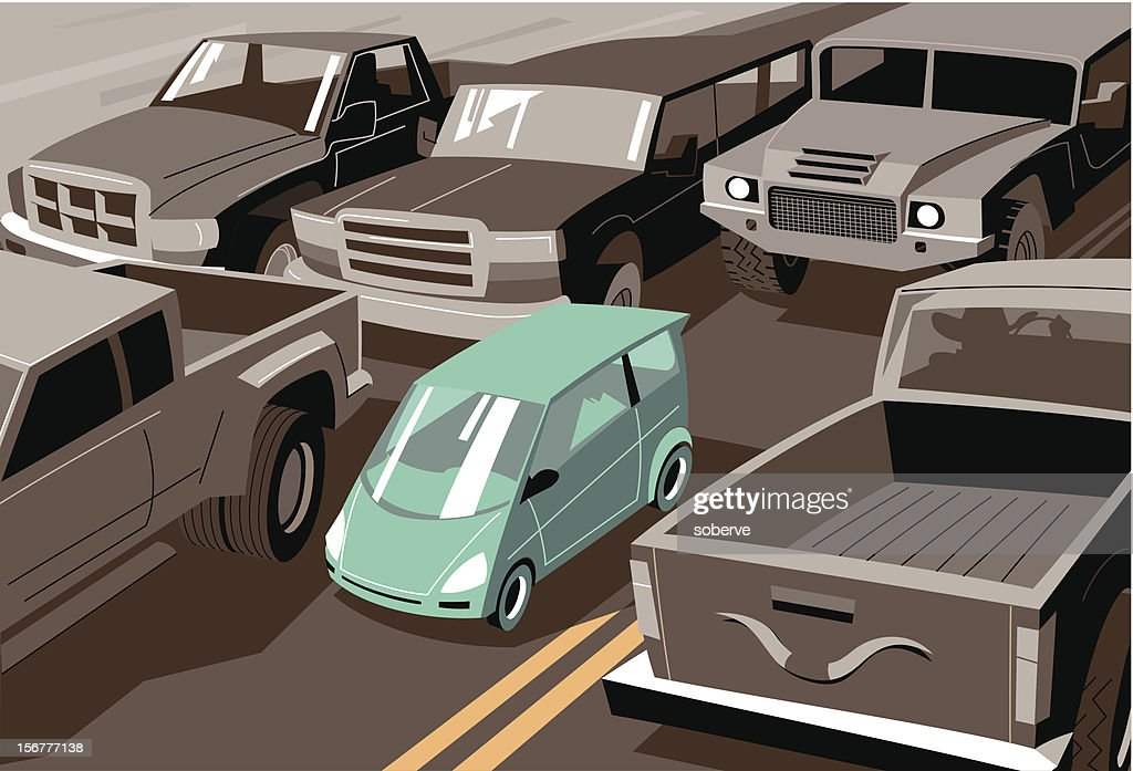 Heavy traffic : Vector Art