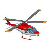 Illustrationen visar en helikopter
