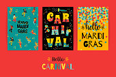 Hello carnival . Vector templates for Mardi Gras concept and other users. Element design