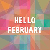 Hello February card for greeting.