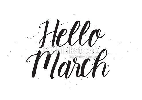 Hello March Calligraphy 3003   ENEWS