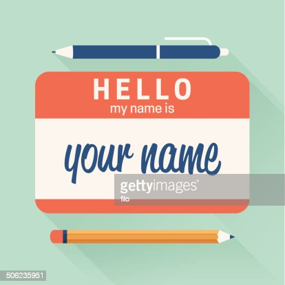 Hello My Name Is Badge Vector Art   Getty Images