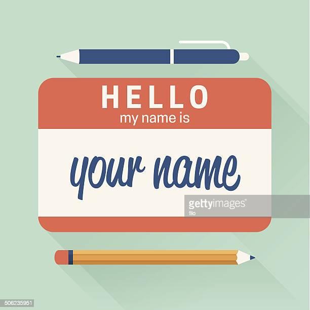 Hello My Name Is Badge