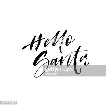 Hello Santa card. : Vector Art