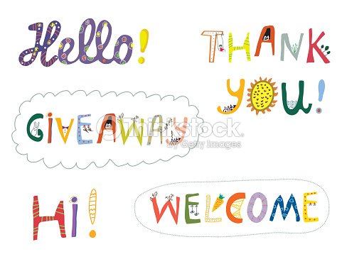Hello welcome and other greeting words design set vector art hello welcome and other greeting words design set vector art m4hsunfo