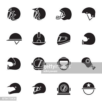 Helmets and masks icons : stock vector