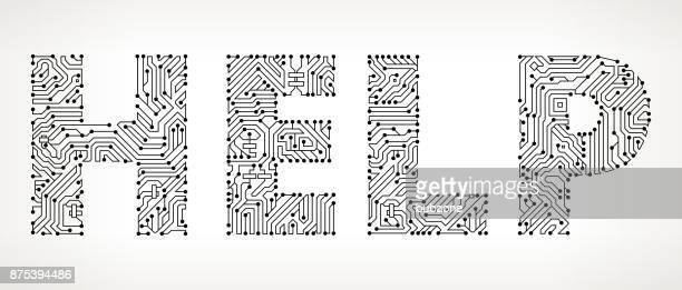 Ayuda circuito Vector botones