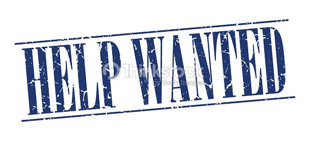 Help Wanted Blue Grunge Vintage Stamp Isolated On White Background – Help Wanted Template Word