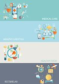 Mobile, App, Medicine, Medical Care, Sport, Healthy Lifestyle, Healthy Food, Rest, Relax, Vector, Illustration