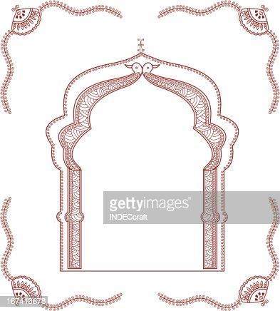 henna arch : Vektorgrafik