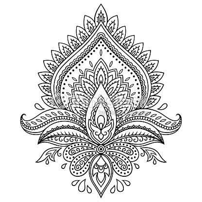 Henna tattoo flower template in indian style ethnic paisley lotus henna tattoo flower template in indian style ethnic paisley lotus vector art mightylinksfo
