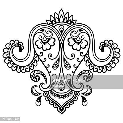 Henna Tattoo Flower Templatemehndi Vector Art Thinkstock