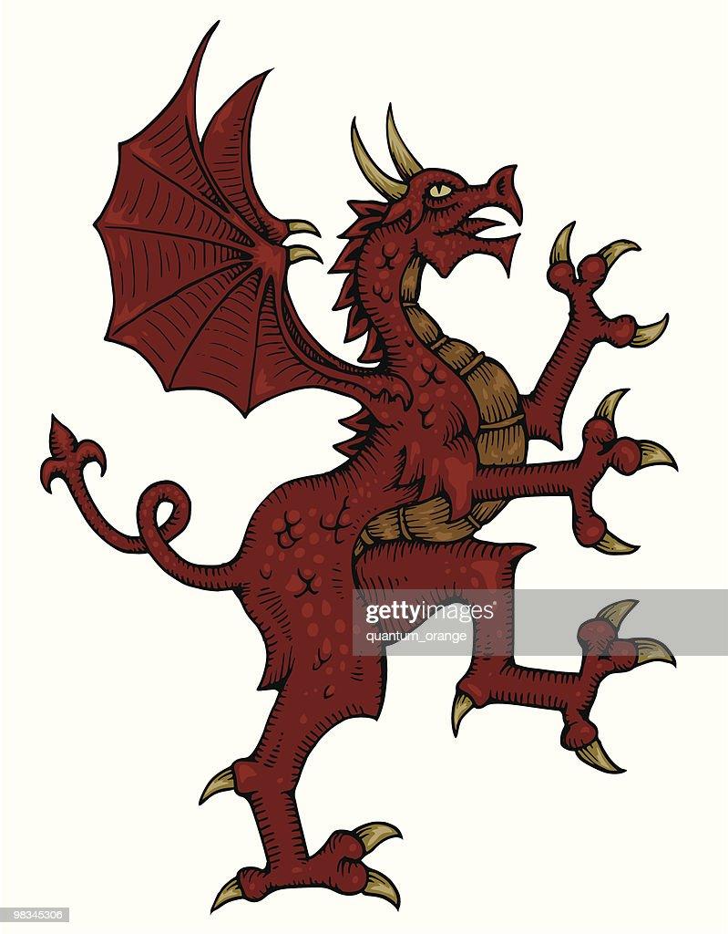 Dragon Heraldry: Heraldic Dragon Vector Art