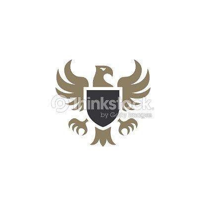 Heraldic Eagle Emblem Template Vector Illustration stock