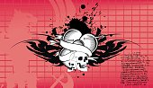 heraldic heart crest emblem tattoo background in vector format very easy to edit