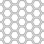 Hex lines grid texture. Stripped geometric seamless pattern. Modern repeating stylish texture. Flat texture on white background. Vector