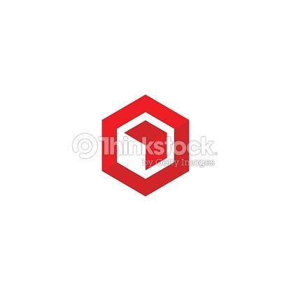 Hexagon Box Pfeil Abstrakte Polygonvorlage Logistische Lieferung ...