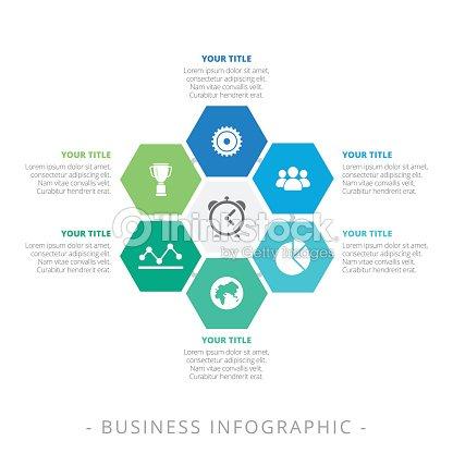 Sechseck Diagramm Infographik Vorlage Vektorgrafik | Thinkstock