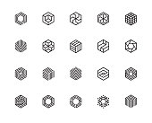 Geometric Shape, Hexagon, Six, Logo, Design Concept, Creative Symbol, High Quality, Icon, Vector and Illustration