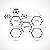 Modern hexagon web design isolated on white background vector stock eps 10 illustration