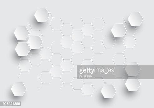 Hexagonal geometric abstract background. : Vector Art