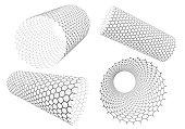 hexagonal mesh pipe like carbon nanotube