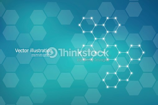 Hexagonal structure molecule dna of neurons system, genetic and chemical compounds. Vector illustration : stock vector