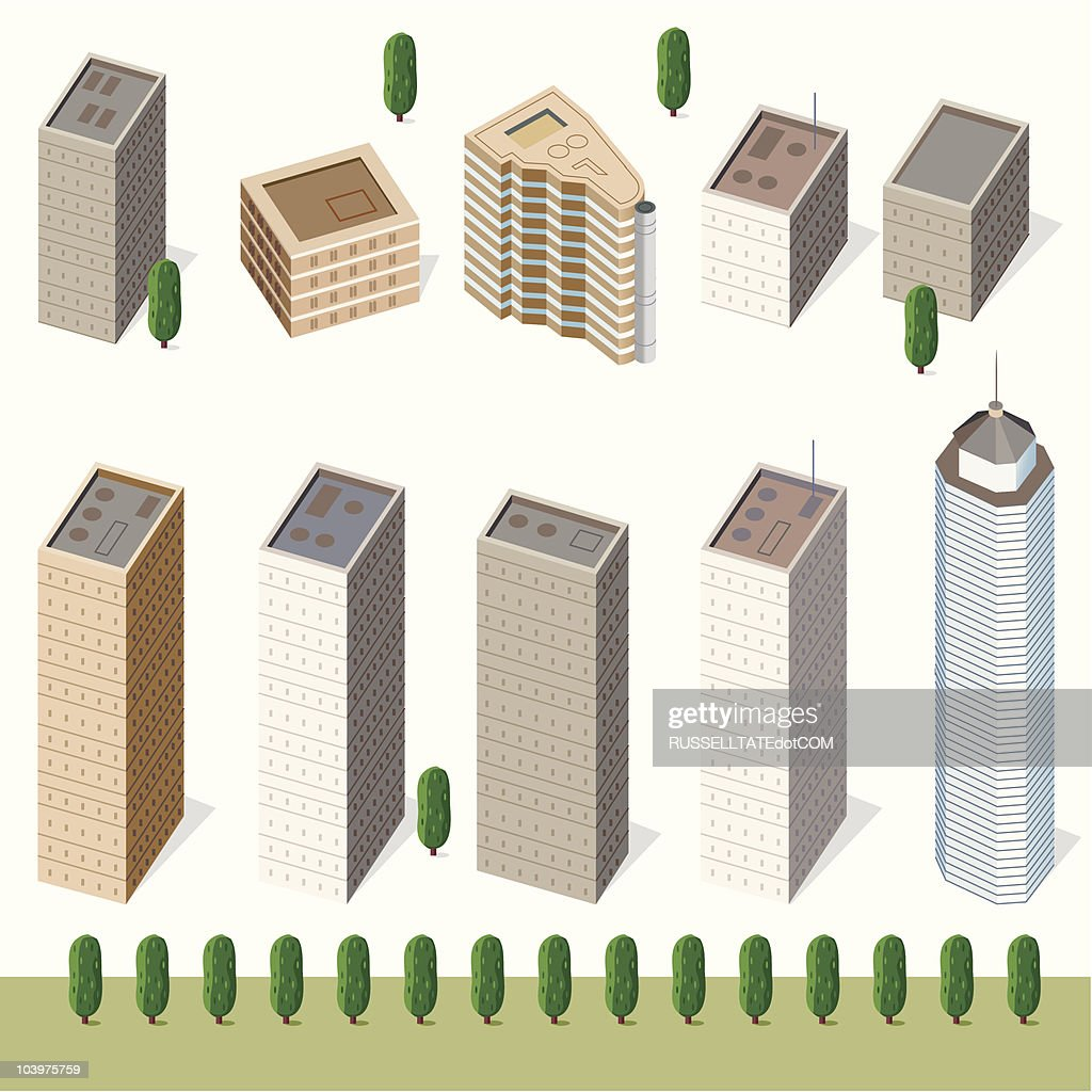 Hi Rise Buildings : Vector Art