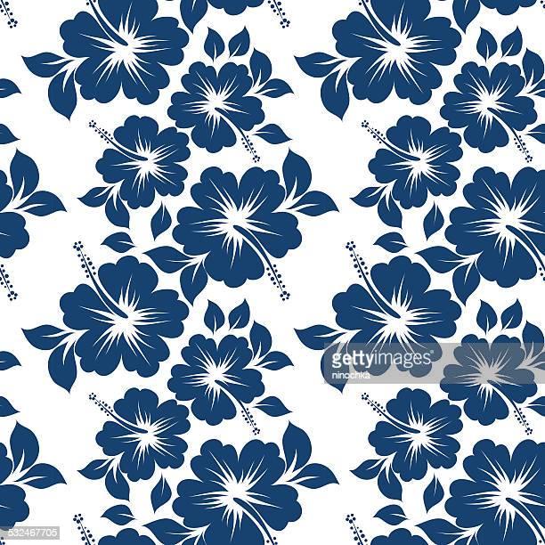 Hibiscus Nahtlose Muster
