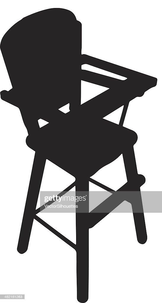 High chair silhouette  sc 1 st  Thinkstock & High Chair Silhouette Vector Art | Thinkstock