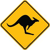 Classic Australian Yellow Sign with Kangaroo danger information made till the last tiny detail. Fully scalable and easy to edit. EPS version 10 with transparency and AI CS5 included in download.
