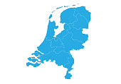 Map of netherlands. High detailed vector map - netherlands.