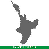 High quality map of North Island is the island of New Zealand