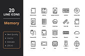 20 Thin Line ultra quality line icon. Icons for business, and user interfaces
