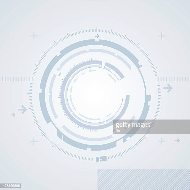 High Tech Abstract Circle Background