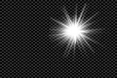 Lens flare, explosion, glitter, line, sun flash, spark and stars. Abstract special effect element design.