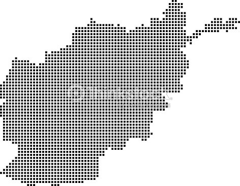 Highly Detailed Afghanistan Map Dots Dotted Afghanistan Map Vector ...