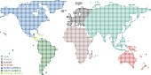 All seven continents, Asia, Africa, Oceania, North America, Central America, South America, and Europe are  accurately prepared and colored using the overlaid vector map of the World with highly detai