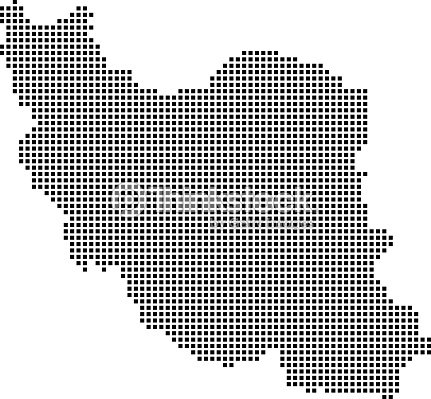 Highly Detailed Iran Map Dots Dotted Iran Map Vector Outline ...