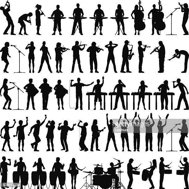 Très détaillée des musiciens