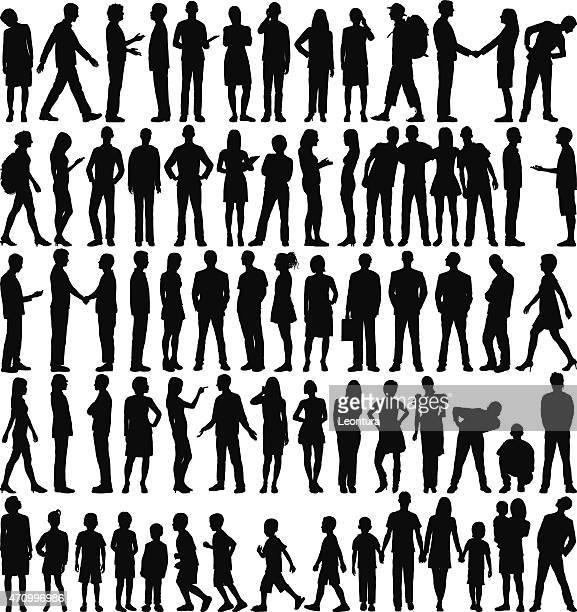 Des Silhouettes très détaillée personnes