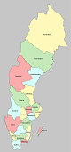 The Sweden Map And The Province Name