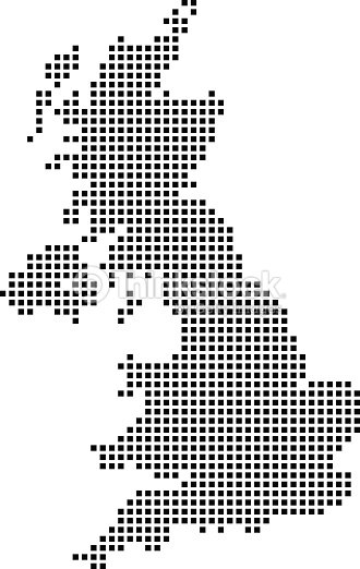 Highly Detailed United Kingdom Map Dots Dotted Uk Map Vector - United kingdom map vector