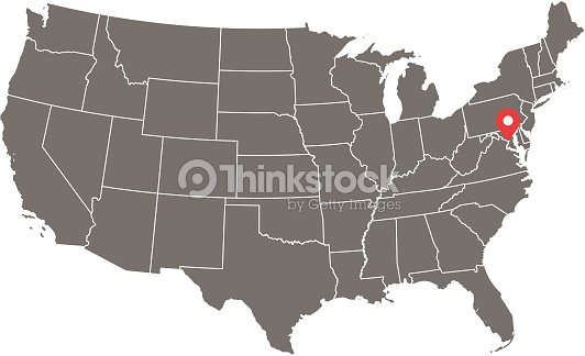 Highly Detailed Usa Map Vector Outline Gray Background Map Of United ...